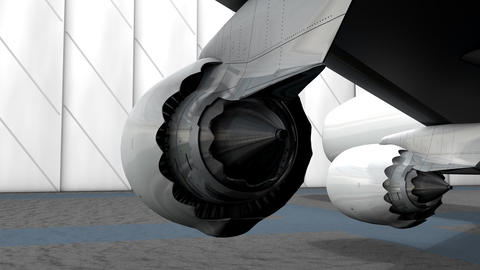 Turbine engine rear view Animation