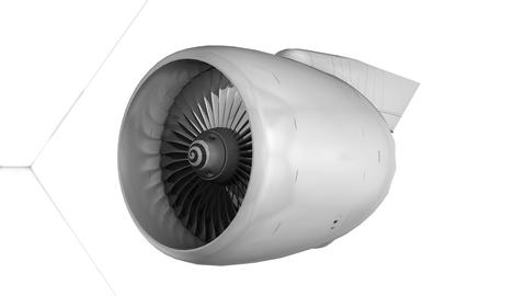 Commercial jetliner engine, matte, Stock Animation