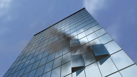 Burning Building stock footage