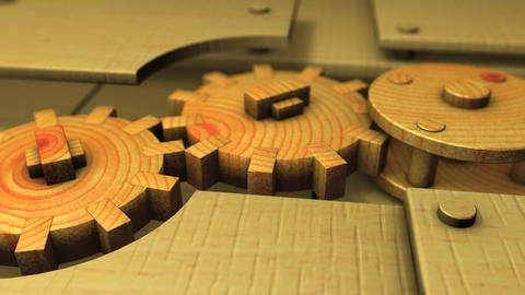 Wooden gears Animation