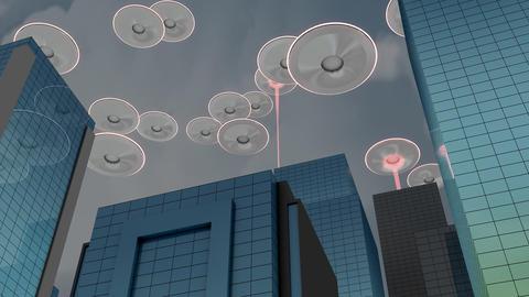 Alien invasion Animation