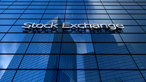 Stock market building Animation