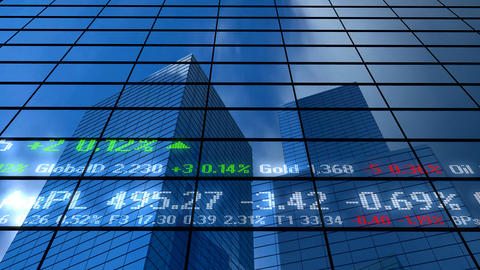 Stock Market Building stock footage
