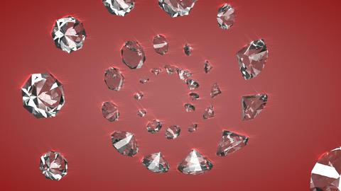Diamond gemstones Animation