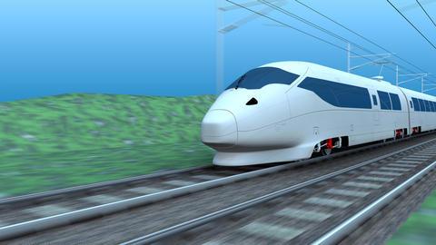 High speed rail Animation