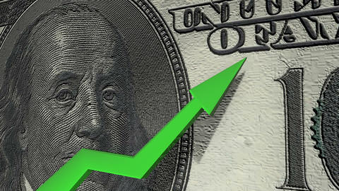 Dollar currency value up Animation