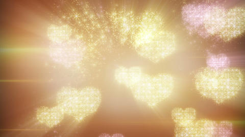 heart shapes of fairy dust loopable background Animation