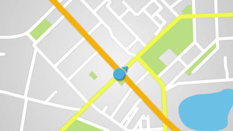Street Map GPS Navigator Seamless Loop stock footage