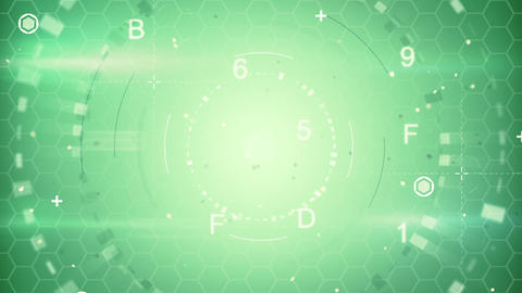 green abstract techno loopable background Animation