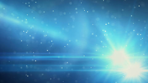 blue light flares and particles loop background Animation