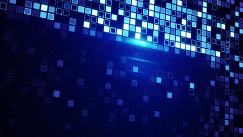 scan blue squares loopable techno background Animation