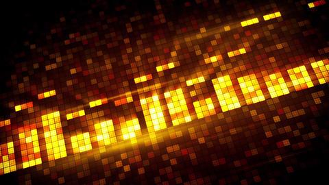 pixelated orange equalizer loopable background Animation