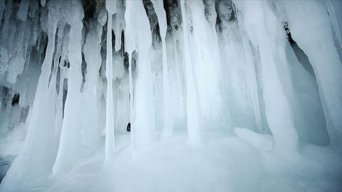 Motion Along an Ice Wall Footage