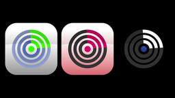 Radar App Icons stock footage