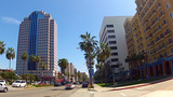Ocean Boulevard Downtown Long Beach CA stock footage