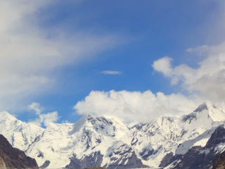 Clouds over glacier Inylchek. Kirgystan, central T Footage