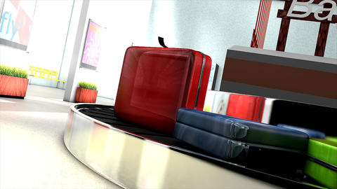 Airport baggage carousel Animation