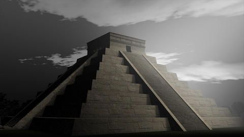 Aztec pyramid Animation
