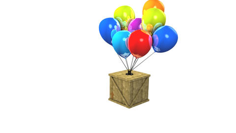 Balloon Delivery stock footage