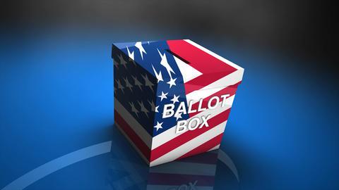 Ballot box US election Animation