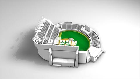 Baseball stadium Animation