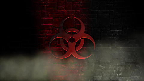 Biological Hazard stock footage