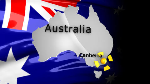 Crisis Map Australia stock footage
