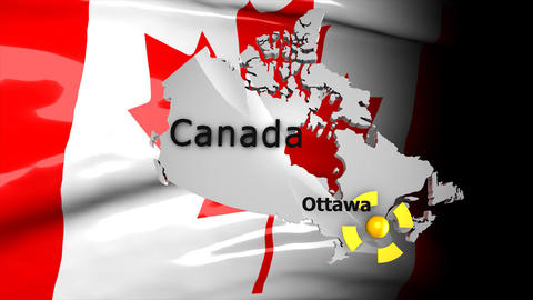 Crisis map Canada Animation