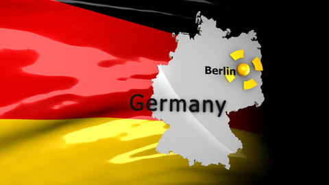 Crisis Map Germany stock footage