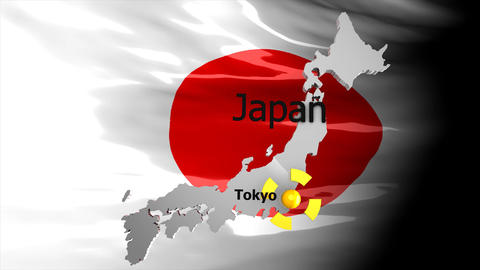 Crisis Map_Japan stock footage