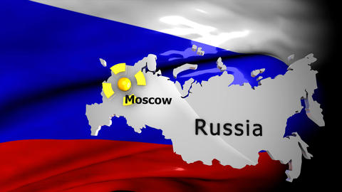 Crisis Map_Russia stock footage