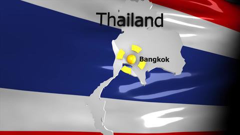 Crisis Map_Thailand stock footage