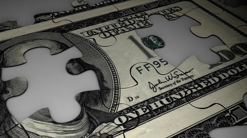 Dollar Puzzle stock footage