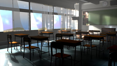 Empty classroom Animation