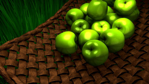 Fresh apples Animation
