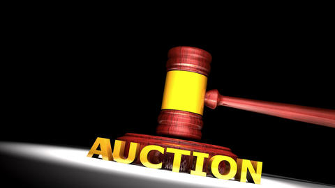 Auction gavel Animation