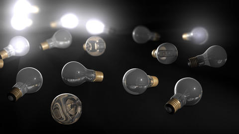 Glowing Bulb stock footage
