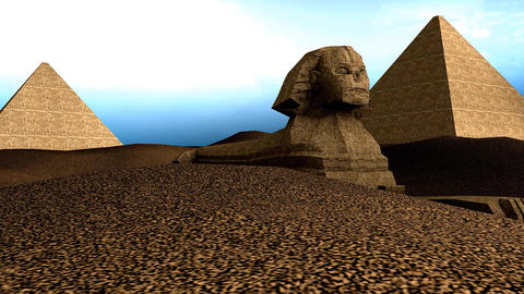 Great Sphnix of Giza Stock Video Footage