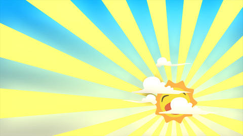 Happy Sunrise stock footage