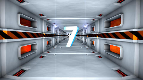 Hi-tech tunnel countdown Animation