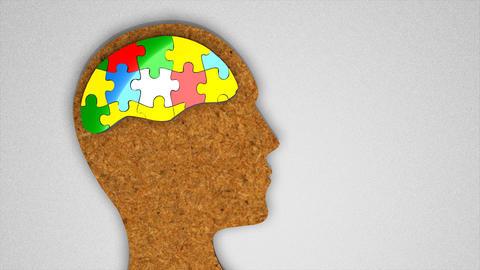 Human brain puzzle Animation