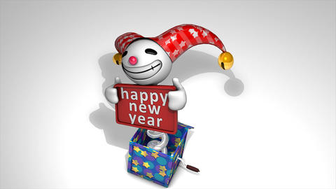 Jack in the box Happy new year Animation