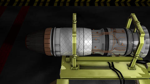 Jet engine, Stock Animation
