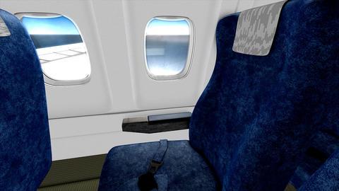 Jet plane cabin Animation