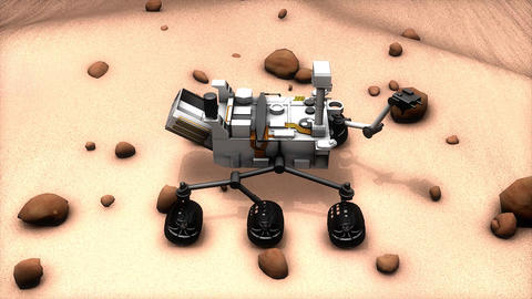 Mars rover Animation
