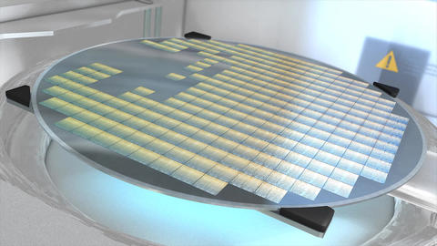 Silicon wafer Animation