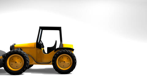 Moving Tractor stock footage