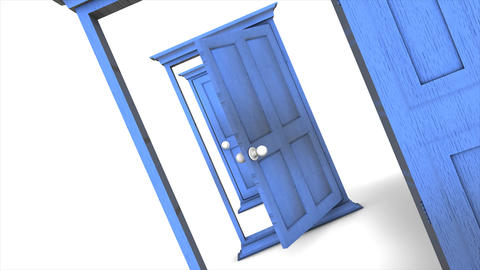 Multiple door open Animation