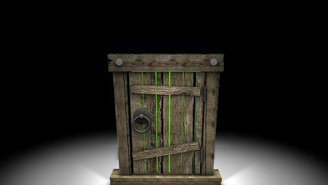 Mysterious door open Animation