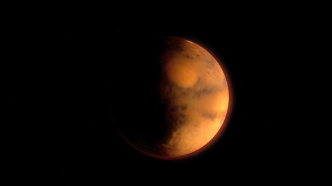 Planet Mars Stock Video Footage